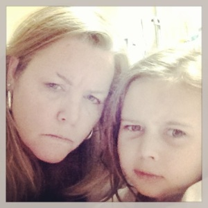 Mommy and Bella NOT happy with waiting to go home! ;)