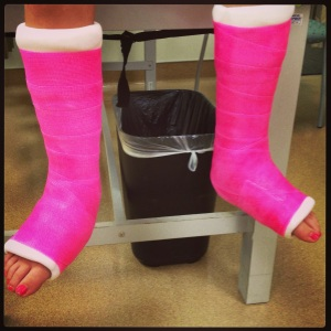New hot pink casts.