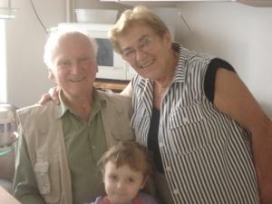 Babička Eva and Děda Stanislav with one of my daughters.